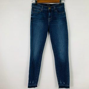 J Brand Ruby High Rise Crop in Tonic Skinny Jeans
